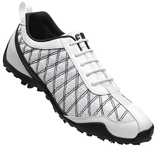 FootJoy Ladies Summer Series Golf Shoes 98951 White/Black Women 7 Medium