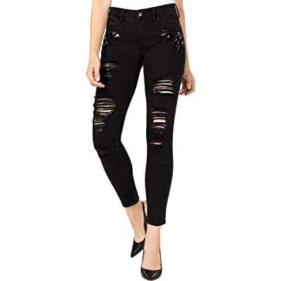 Guess $128 Womens New 1229 Black Sexy Curve Ripped Jeans 31 Waist B+B at Amazon Women's Jeans store