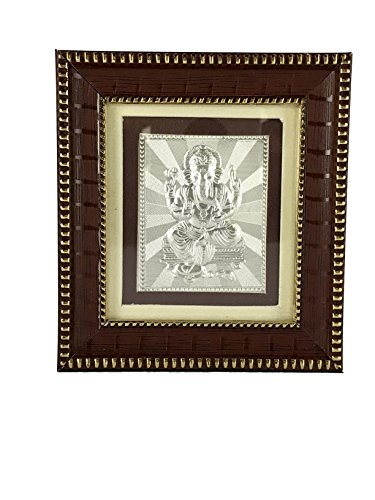 Ganesha Frame - (3 Pack) Made with 999 Pure Silver - Indian Gifts ()