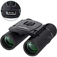 Binoculars Mini Pocket Binoculars Import Full Optical Glass Mini Lightweight Binoculars Foldable for Opera Concert, Travel, Hiking, Bird Watching, Observing Outdoor Scenery, Hunting, Climbing