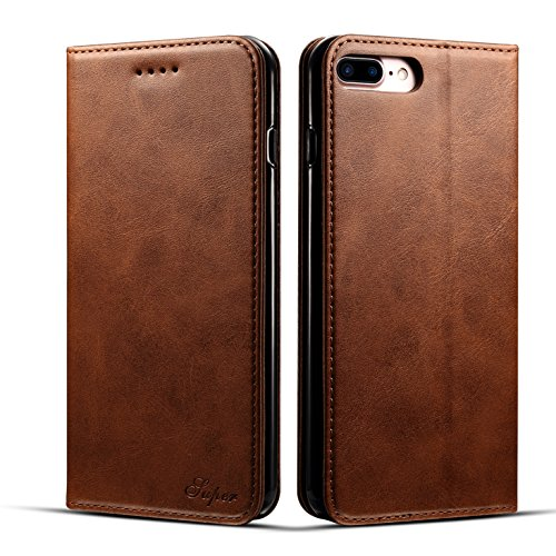 iPhone 7 Plus&8 Plus 5.5inch Wallet case FLYERI Leather Case Flip Folio Book Case Wallet Cover with Kickstand Feature Card Slots & ID Holder and Magnetic Closure for iPhone 7 Plus&8 Plus 5.5inch (3)