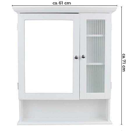 Specchio Bagno Con Ante.1plus Armadietto Da Bagno Con Specchio Con 2 Ante 61 X 71 X 14 5