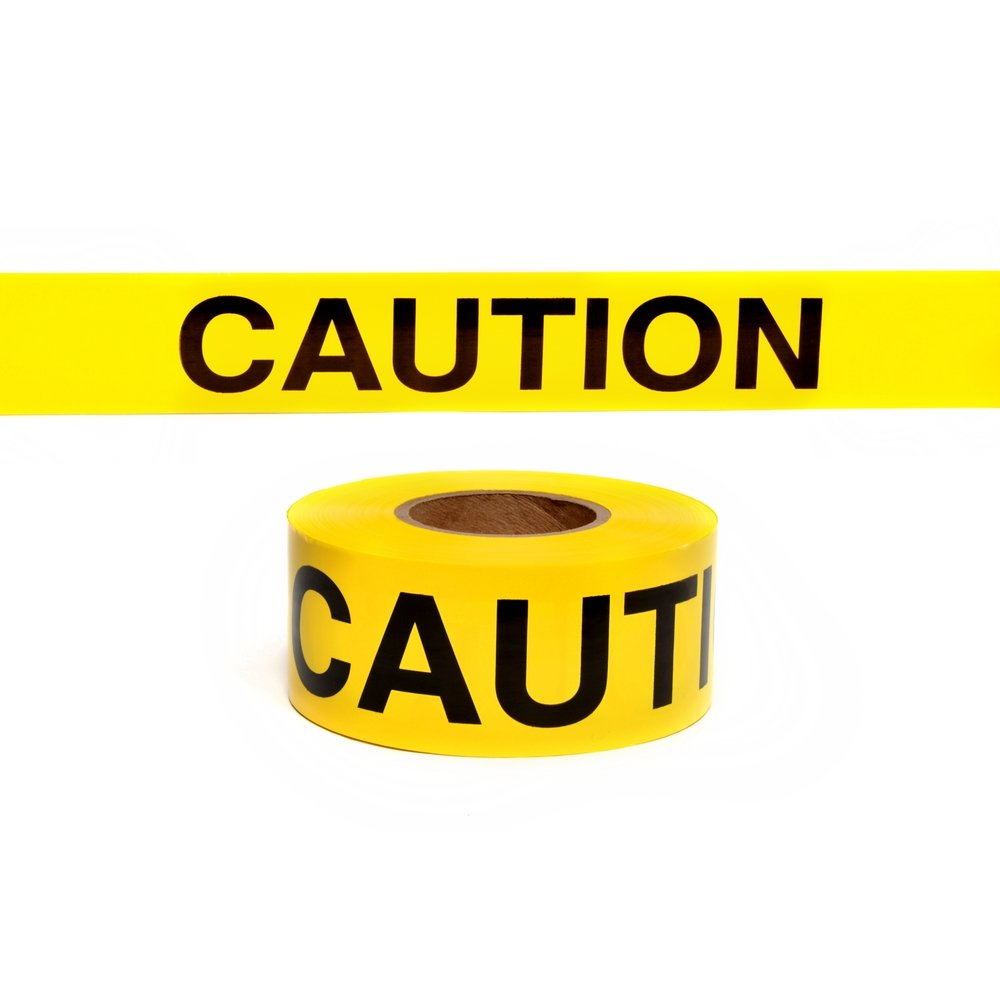 Swanson BT30CAU2 Disposable Barricade Tape 3 in W X 300 Ft L X 2 Mil T Caution Polyethylene feet