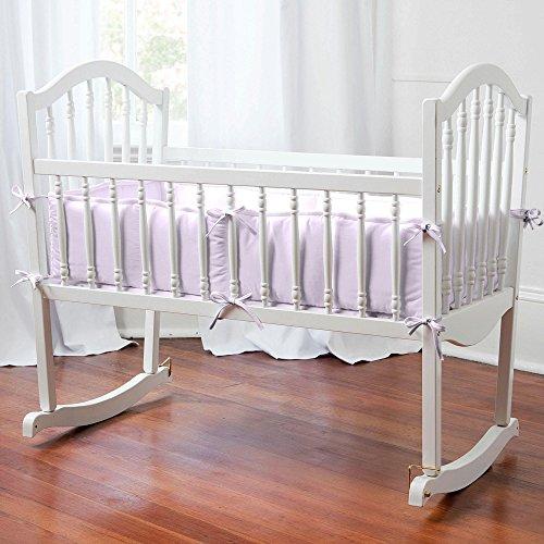 Carousel Designs Solid Lilac Cradle Bumper