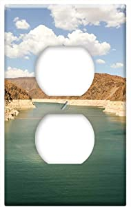 Dam Hoover Dam Reservoir Usa America Nevada Lake -Outlet Cover Switch Plate