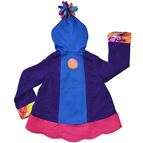 Twirly Girl Jacket for Girls 13 Pockets Purple Blue Great for Fall Made in USA by TwirlyGirl (Image #1)