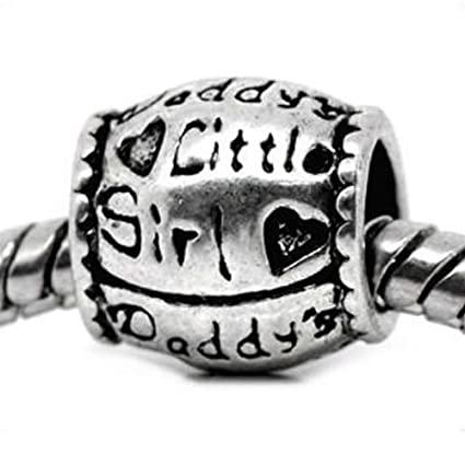 8390e87f7 Image Unavailable. Image not available for. Color: Buckets of Beads Daddy's  Little Girl Charm Bead Fits Pandora ...