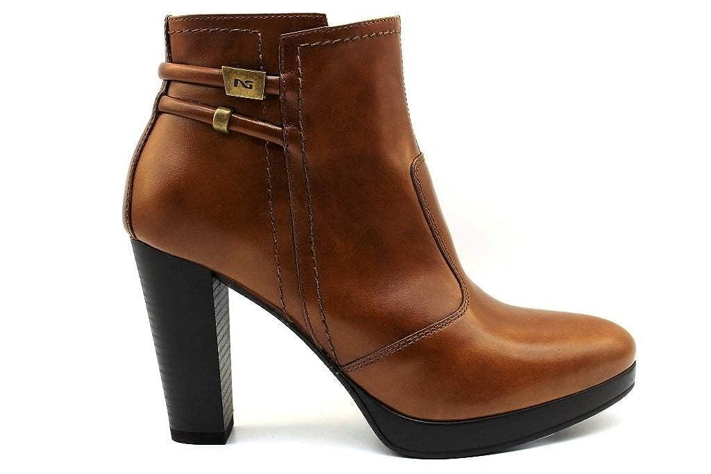 N.g. NG A806313D Leder und schwarz Stiefel Ankle Frau mit Plateau