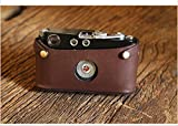 Cam-in Cowhide Genuine Leather Half Case Cover for