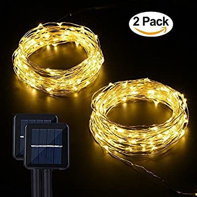 Solar String Lights, MagicPro 100 LEDs Starry String Lights, Copper Wire solar Lights Ambiance Lighting for Outdoor, Gardens, Homes, Dancing, Christmas Party
