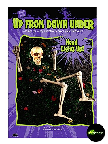 Fun World 70135 Light-Up Risen From The Grave Skeleton (Adult Supercenter)