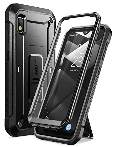 SupCase Unicorn Beetle Pro Series Designed for Samsung Galaxy A10e Case(2019 Release), Full-Body Rugged Holster & Kickstand Case with Built-in Screen Protector (Black) (What's The Best Screen Protector For Galaxy S6 Edge)