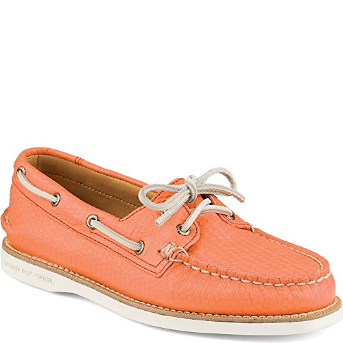 super popular e4c91 f0d3f Cup o 7 Top A Women s Sperry Boat Honeycomb M coral Shoe us 5 Leather sider  ...