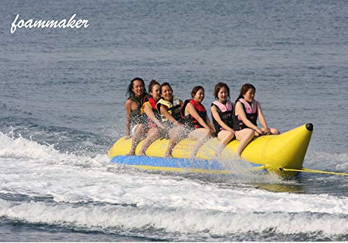 Foammaker Inflatable Towable Fly Fish Boat 3 5 6 Persons Banana Boat Flying Fish Tube (6 Persons)