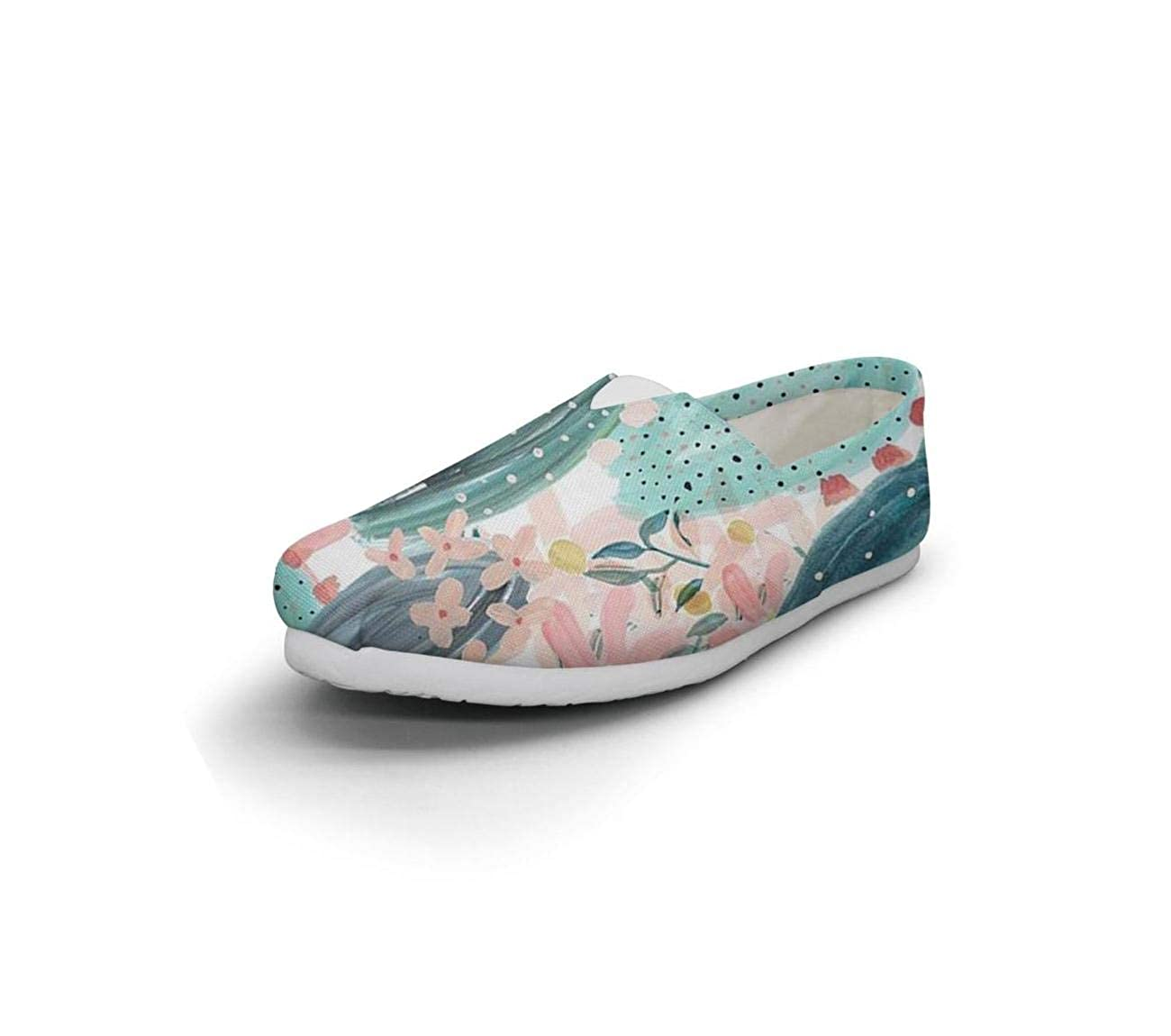 nkfbx Painted Cactus Pattern Classic Flat Canva Shoes for Girls Travel