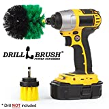 Drill Powered Tub, Sink, Porcelain, Tile and Grout Brush Small Shower Track Brush