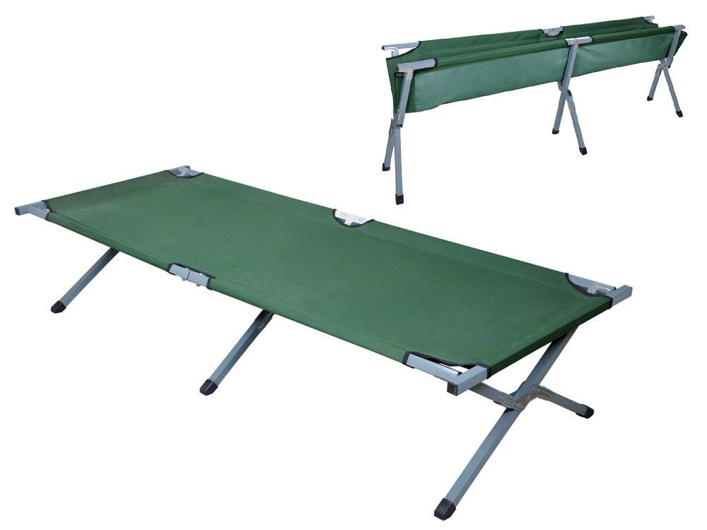Green Portable Folding Cot Camping Military Medical Hiking Fish Bed Sleeping Cot