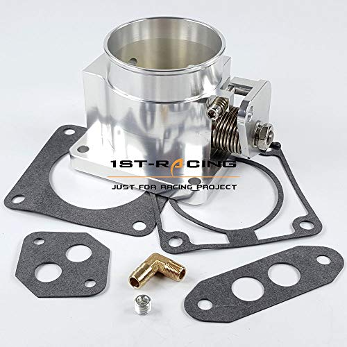 - Ispeedytech Billet Aluminum 75mm Throttle Body for 86-93 Mustang 5.0L V8 TPS Sensor