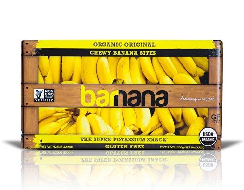 Barnana Organic Chewy Banana Bites, Original, 3.5 Ounce, 12 Count