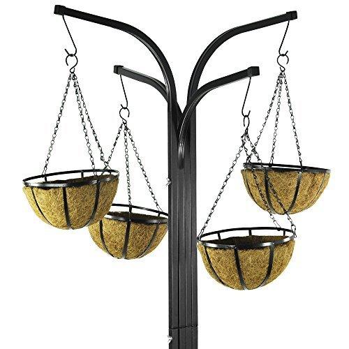 Parkland® 4 Arm Tree Cascade Garden Hanging Basket Patio Plant Planter Stand