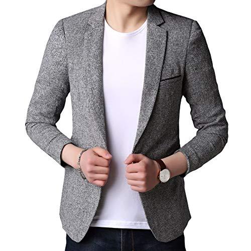 Winwinus Men's Popular Lounge Silm Autumn Warm Blazer Jacket Suits Light Grey L by Winwinus