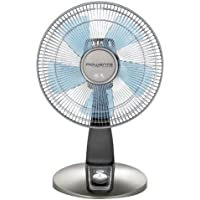 Rowenta VU2531 Turbo Silence Oscillating 12-Inch Table Fan Powerful and Quiet, 4-Speed, Bronze