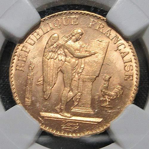 可準最高鑑定1897A フランス エンゼル 20フラン金貨 NGC鑑定 MS64 エンジェル 本物保証 国内発送 B07RQ6ZVK9