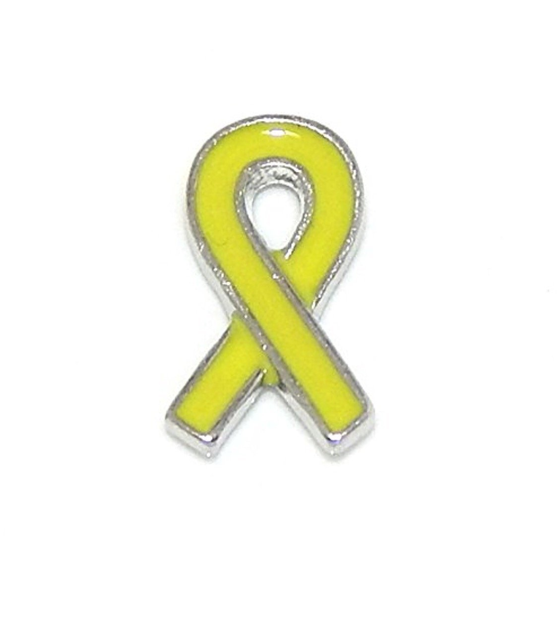 YELLOW RIBBON Support Our Troop Floating Charm