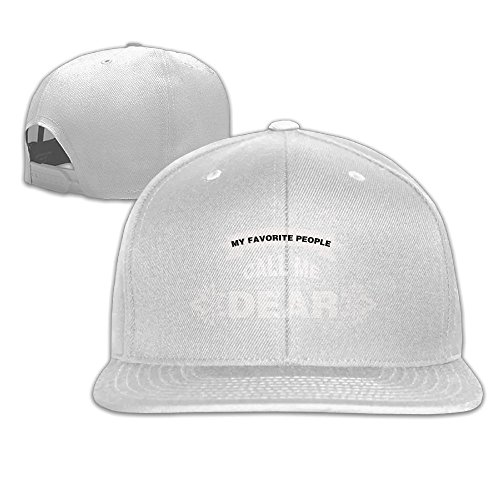 My Favorite People Call Me Dear Run Cap Classic Unisex Baseball Cap White