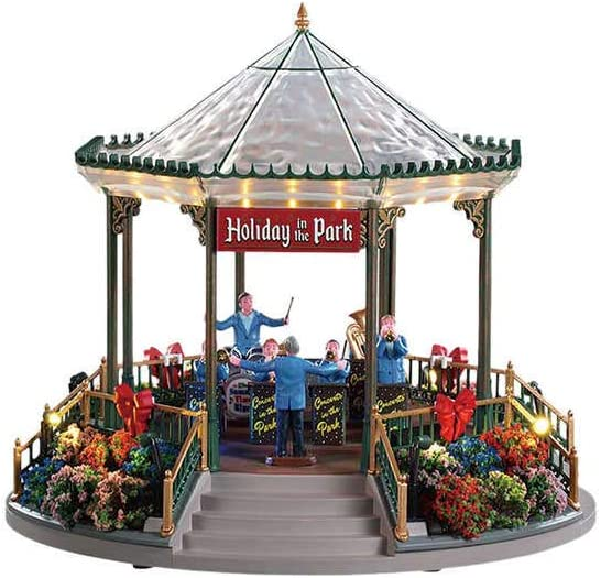 Lemax - Holiday Garden Green Bandstand - with 4.5v Ada: Amazon.es ...