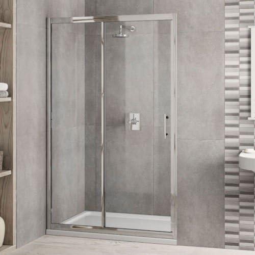 1600 mm x 900 mm de ducha de. Templado 6 mm de cristal para puerta corredera, bandeja y desagüe inc: Amazon.es: Bricolaje y herramientas