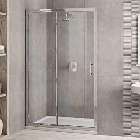 1600mm X 900mm Luxury Shower Enclosure Tempered 6mm Glass Sliding Door Tray Waste Inc Amazoncouk DIY Tools