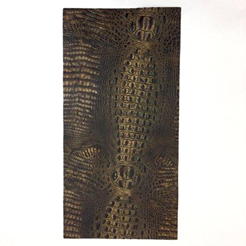 (Italian Hornback Crocodile Embossed Cowhide Leather (12