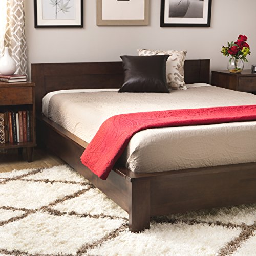 Modern Transitional Wenge Wood Queen Platform Bed - Includes Modhaus Living Pen