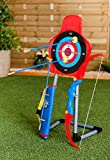 Hillington Garden Archery Bow And 7 Arrow Game Set Toy Darts Target Bullseye Warrior Sports Day For Family Kids Nursery Children's Home Picnic Party Games Outdoor Sport Competition Skilful