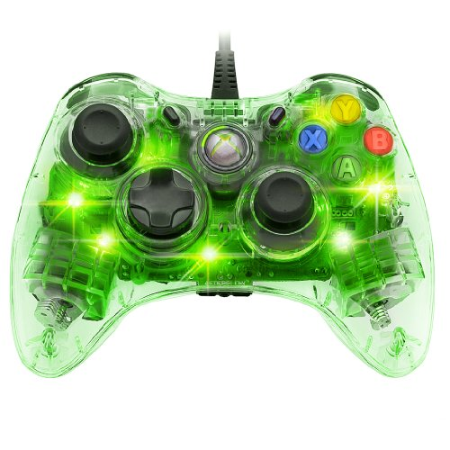 Afterglow Wired Controller for Xbox 360 - Green (Green Xbox 360 Controller Wired)