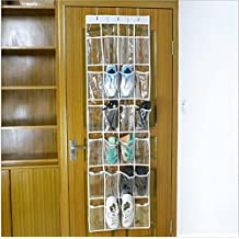 INTBUYING 24 Pockets Hanging Wall Over the Door Organizer Closet Scarf Jewelry Assesories Bathroom Organizer, Kitchen Food Organize, Shoes Books CD Toys Organizer Crystal