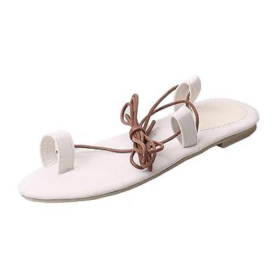 c291b914df74c Inkach Womens Summer Sandals - Fashion Bohemia Lace Up Flip-Flops Sandals  Thong Slippers Casual