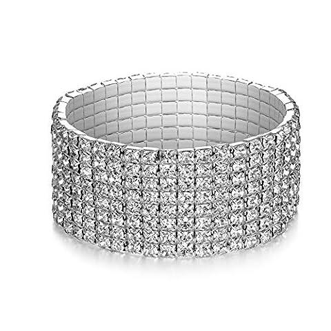 LDPF Rhinestone Stretch Bracelet for - Sale: $7.99 USD