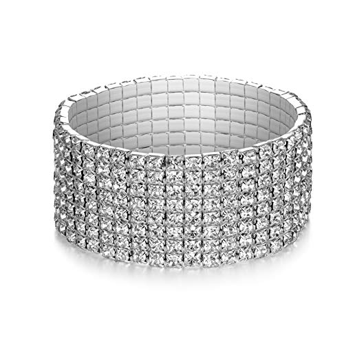 LDPF Rhinestone Stretch Bracelet WeddingPromBridalCostumeFigure CompetitionBeauty Pageant