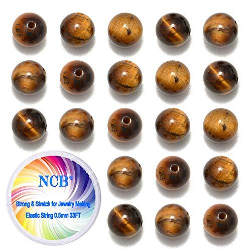 NCB 200PCS 8mm Natural Yellow Tiger