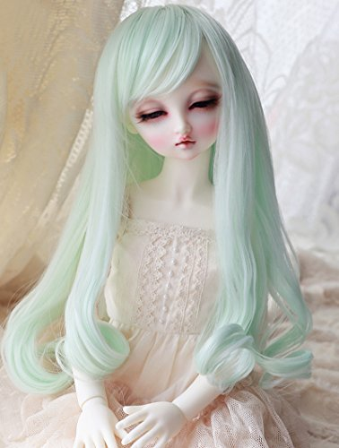Linfairy 8-9 inch 1/3 BJD Wig Doll Hair SD DZ DD DOD LUTS Long Wig (Mint)