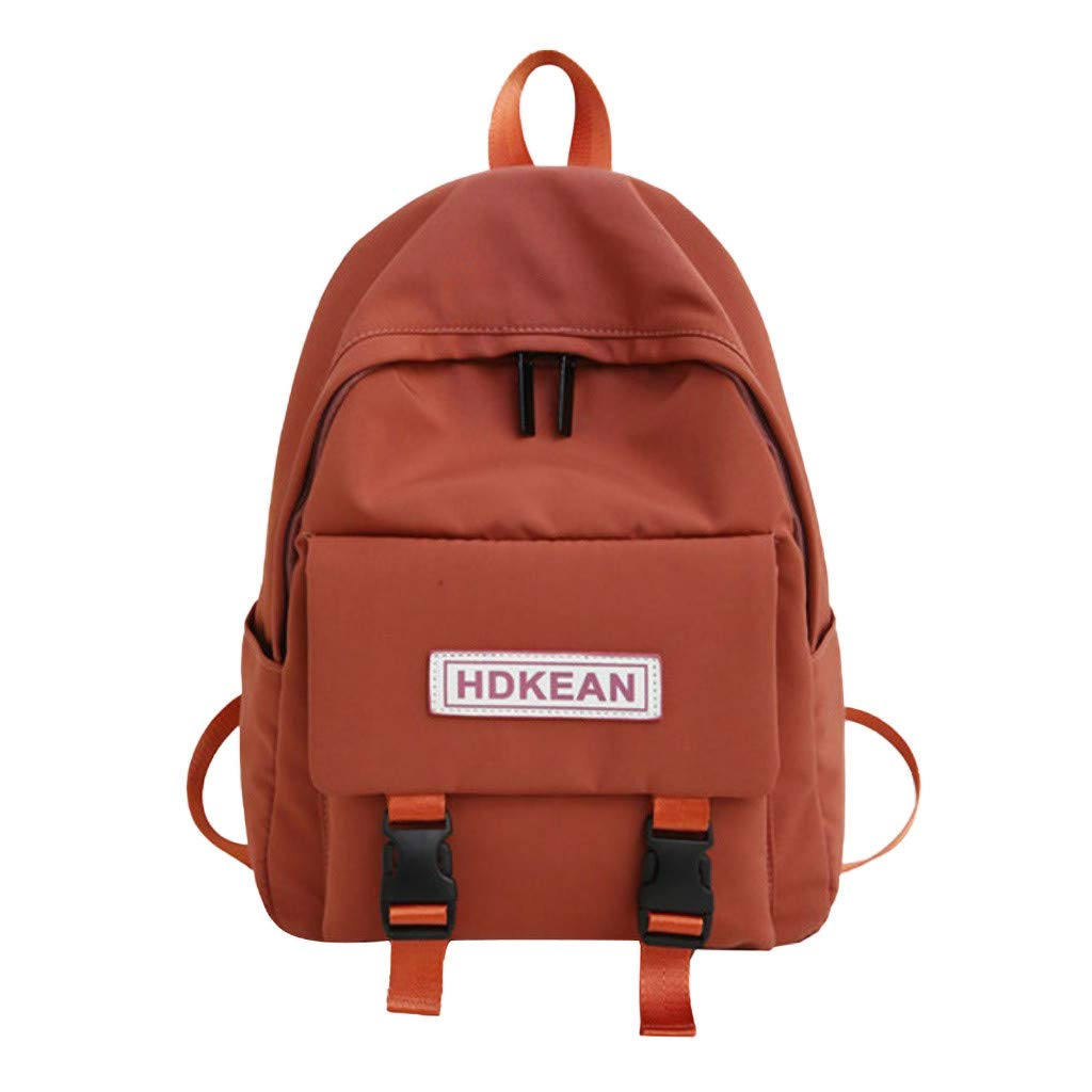 Lightweight Backpack for School, Yezijin Large Capacity Solid Color Waterproof Nylon Casual Backpack School Bag Large Capacity Backpack for School Teenager Girl Boy Under 10 Dollars