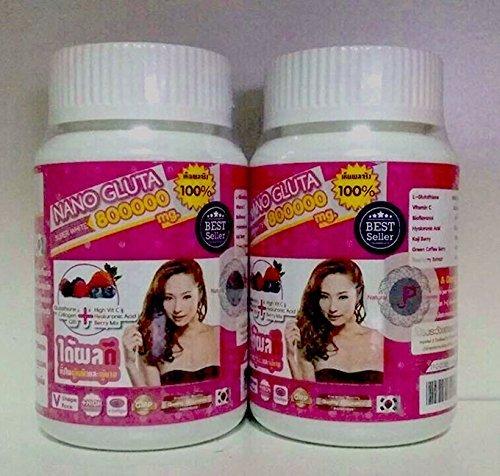 Nano Gluta 800000 Milligram Soft Gel Glutathione Collagen Vitamin C Mixed