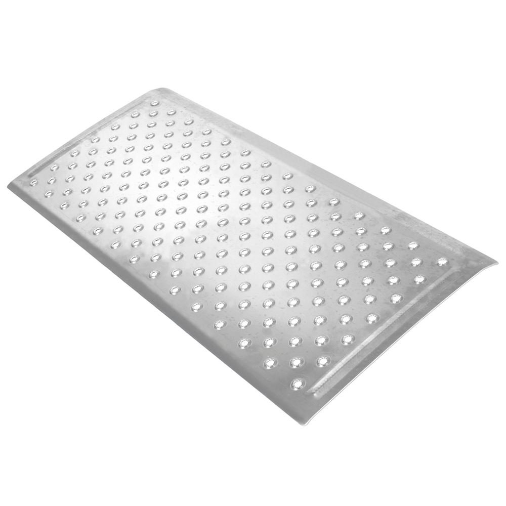 Silver Spring 2-5/8'' High Aluminum Threshold Ramp, Punch Plate Surface, 16'' L x 36'' W