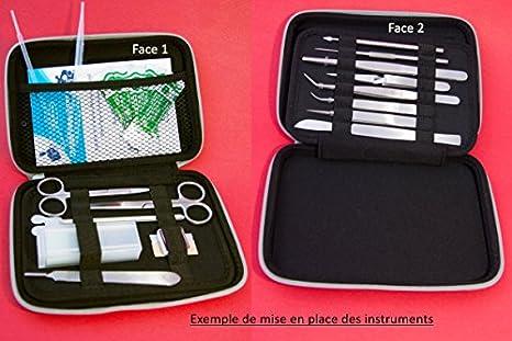 Estuche para instrumentos de disección, vacío (negro): Amazon.es: Amazon.es