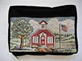 Schoolhouse Needlepoint Bible Cover (Rag Book)