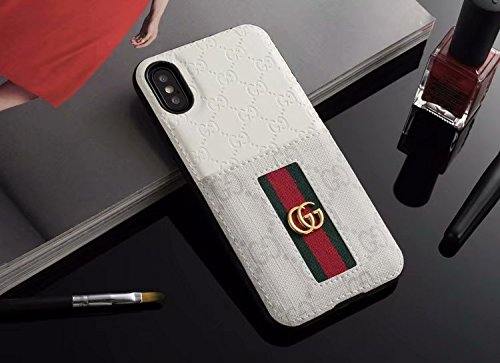 iPhone Xs/X Case- US Fast Deliver Guarantee FBA- Elegant Luxury PU Leather Designer Case with Card Holder Slot Cover for Apple iPhone Xs X