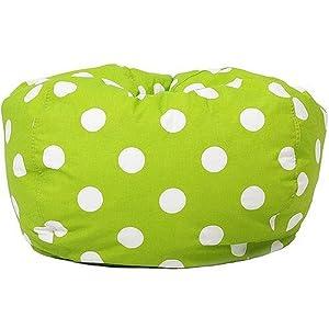 Classic Garbadine Bean Bag, Polka Dots - Green
