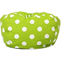 Classic Garbadine Bean Bag, Polka Dots - Green
